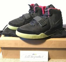 (USED) NIKE AIR YEEZY 2 BLACK SOLAR RED Sz US7 UK6 KANYE WEST 508214-006 -2012