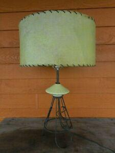 Mid Century Modern Shade & Lamp Mint Green Black Wire MCM Atomic Vintage Works