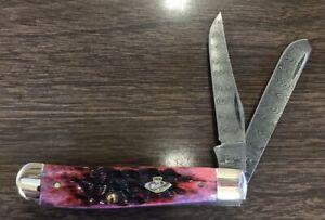 Case Damascus Crimson Mini Trapper 74171