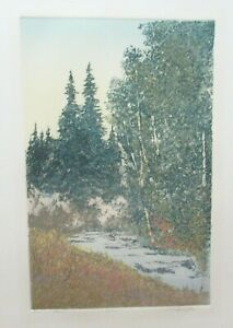 "JACK WILLIS ""MOUNTAIN STREAM"" LIMITED EDITION HAND SIGNED ETCHING"