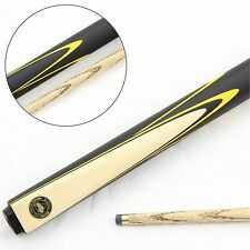 Buffalo YELLOW STING 2pc Matching Ash Grain Snooker Pool Cue, Small 8.5mm Tip