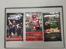 2014 UD USA Football 2015 2016 UD CFL Football Hobby packs 3 Pack Lot