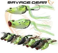 Savage Gear 3D Frog Fishing Hollow Lure Walk Pop Predator Tackle New 2019 Range