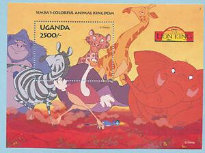 UGANDA, Sc #1269 MNH 1994, S/S, Disney, Simba's Colorful Animal Kingdom, TDD-A