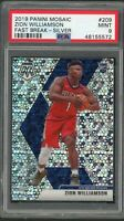 Zion Williamson 2019 Panini Mosaic Fast Break Silver Prizm Rookie Card 209 PSA 9