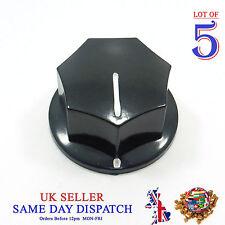 5x Push on Knob for Potentiometer Plastic Cap 33mm