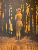 Henri Patrice Dillon Gravure Lithographie Étude Femme Nue Nu Féminin Baigneuse