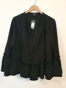NEW LOOK CURVES Go Ruffle Hem Jacket Size UK24