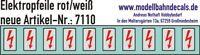 10 Spur 0 Elektropfeile 5x2,8mm - rot auf weißem Schild 045-7110