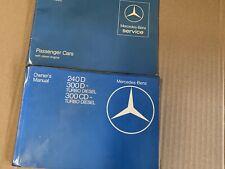 1983 MERCEDES BENZ W123D 240D 300D /CD TURBO DIESEL OWNER'S MANUAL