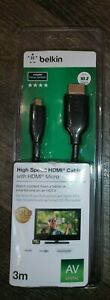 Belkin 3m High Speed 4K gold 1080p Micro HDMI to Full HDMI tablet phone Cable