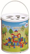 New 80 Piece Wooden Shape Blocks Bricks Building Set Educational Childrens Toy