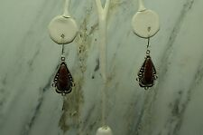925 STERLING SILVER BROWN RED UNIQUE JASPER SOUTHWESTERN DESIGN EARRINGS #X18132