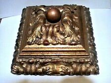 Large Ornate Design vintage carved wooden Chest jewelry treasure trinket Box