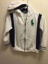 POLO Ralph Lauren Boys Big Pony Multicolored White Jacket Hoodie Zip Up  Size: 7