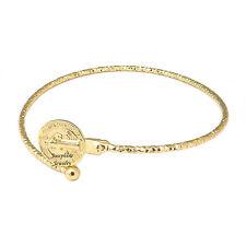 14k Gold Plated Saint Benedict San Benito Simple Cuff Bracelet