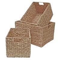 Water Hyacinth Storage Basket, Wicker Shelf Drawer - Kitchen Bedroom Living