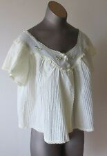 Vintage 1960's Cotton Bed Jacket by Dorsay Size M