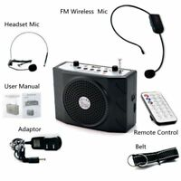5W Portable Waistband Voice Booster Amplifier Microphone Speaker FM MP3 Audio