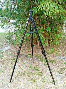 Black Wooden Tripod Telescope Lamp Base Steampunk Art Studio Camera Nice Patina