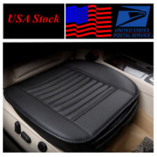 USA Stock ! Bamboo charcoal Front Seat Cover Car Seat Cover Breathable Black 1 X