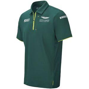 Aston Martin F1 Men's 2021 Team Polo Shirt Green