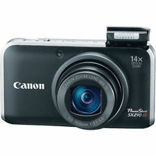 Black Canon PowerShot SX210 IS 14.1 MP Digital Camera Kit