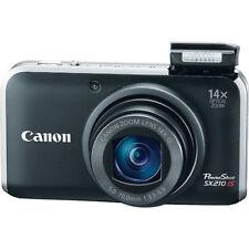 Black Canon PowerShot SX210 IS 14.1 MP Digital Camera Kit