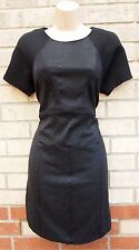 RIVER ISLAND BLACK SPOTTY SNAKE SKIN QUILTED TUBE PARTY FORMAL RARE DRESS 12 M