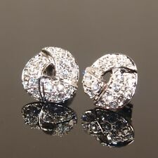 18K White Gold Filled Earrings made with Swarovski Crystal Bridesmaid Xmas E453
