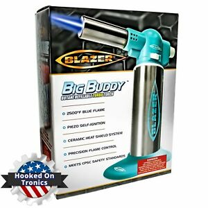 Blazer Big Buddy Butane Refillable Turbo Torch (TEAL) Professional & Home  NEW