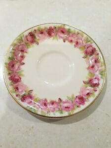 Beautiful  Vintage  Royal Doulton Raby Roses Saucer  ENGLAND