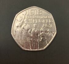 1918 REPRESENTATION OF THE PEOPLE ACT 50P FIFTY PENCE COIN 2018 CIrculated