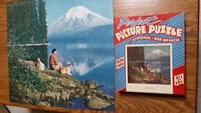 """Vintage Perfect Picture Puzzle """"Lake Solitude"""" 500+ Pcs Extra Large Usa Used Cib"""