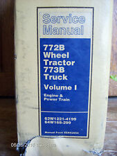 Caterpillar 772B Wheel Tractor 773B Truck Volumn 1 SERVICE Repair Manual    #614
