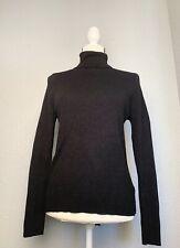 Boden Black Roll Neck Turtleneck Pullover Sweater 12 Large
