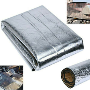 1P Car Hood Heat Shield Insulation Adhesive Mat Aluminum Foil Cotton Heat Cotton