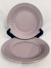 Lenox Dessert Salad Plates French Perle Purple Violet Lavender 8� - Set Of 2