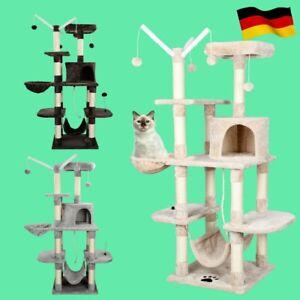 XL Kratzbaum Katzenkratzbaum Sisal Grau für große Katzen stabil 150cm hoch