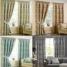 Arden Luxury Ready Made Pencil Pleat Lined Curtains