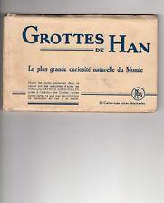LIVRET SOUVENIR Grotte de Han,20 vues, noir et blanc de 1955