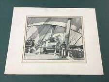"Gordon Grant Lithograph ""Old Windjammer"" 1944 Associated American Artists"
