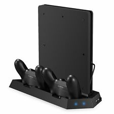 Jelly Comb PlayStation 4 Slim Vertical Stand Controller Charger with Cooling fan