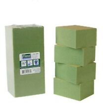 "4 Pc Package Green Styrofoam Blocks 3½x2⅞x1⅞"" Each Block Floral Crafts & More!"
