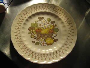 "Metlox VernonWare Vernon Ware Fruit Basket California Pottery 7 1/2"" Bread Plate"