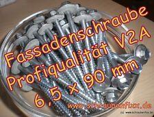 100 Schrauben  6,5 x 90 mm V2A DS 22mm  Sandwichplatten Thermodach Trapezbleche