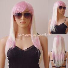 Curly Straight Long Cosplay Hair Wig with Bang Anime Hair Wig Halloween Dress 95