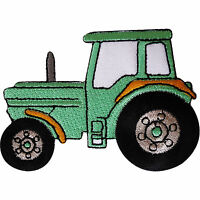 Tractor Patch Embroidered Badge Iron Sew On Shirt Jeans Farm Embroidery Applique