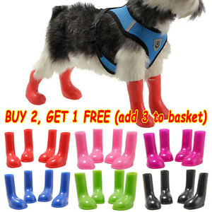 Pet Dog Waterproof Shoes Anti Slip Paw Protector Rain Boots Outdoor Booties S-L