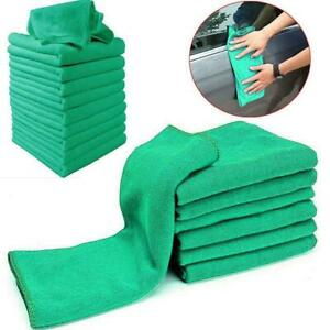 Green Microfiber Cleaning Auto Car Detailing Soft Cloths Wash Price Towel Sale.